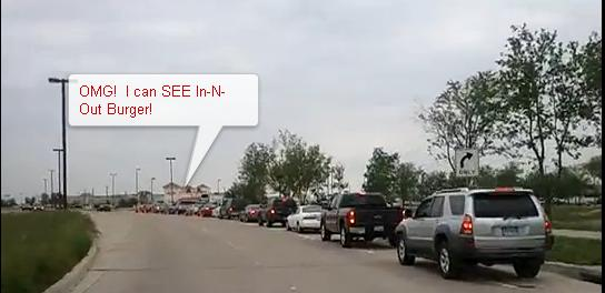 In-n-Out Burger Line in Texas