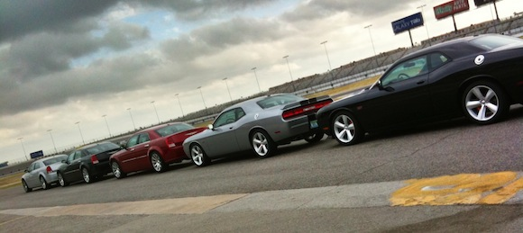 txGarage on the infield track at Texas Motor Speedway for the SRT Track Experience