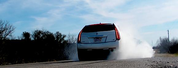 CTS-V Sport Wagon Burnout