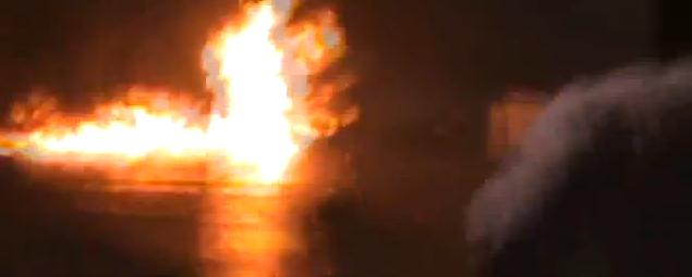 Houston Drag Strip - Up in flames