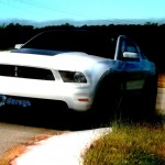2012 Ford Mustang BOSS 302 on the track at Texas Motorsport Ranch