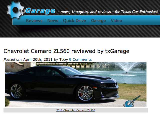 Top Review: the 2011 Camaro ZL560