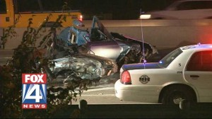 Fatal car crash in Dallas on I-35 and Illinois - at 5 a.m. Tuesday morning Aug. 21 2012