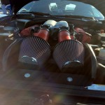 Dodge Viper under the hood air intake - Dallas Cars and Coffee