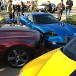 3-Way wreck - Dallas Cars and Coffee - Camaro Corvette and Corvette - by txGarage