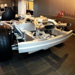 Naked McLaren MP4-12C on the showroom floor at Park Place in Dallas Texas by txGarage