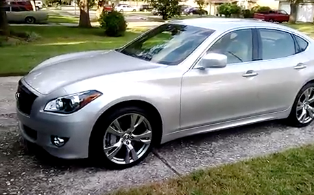Don Armstrong walking through the 2013 Infiniti M37S