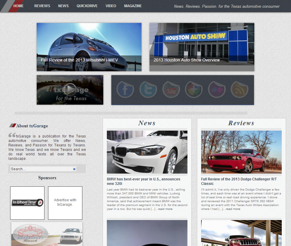 txGarage - News. Reviews. Passion. - for the Texas Automotive consumer