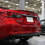 Rear-end of the all-new 2014 Mazda 6 SkyActiv at the Dallas Auto Show