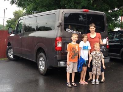 Big Families Deliver Big Kudos to Nissan's NV3500 Passenger Van