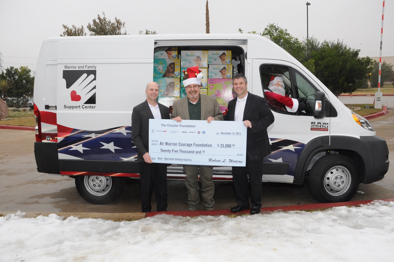 Ram Truck Brand Brings Big ProMaster Van, Supplies and Snow to Warrior & Family Support Center at San Antonio Military Medical Center