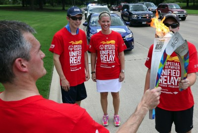 On Its Way to L.A….Toyota Hosts Special Olympics Flame