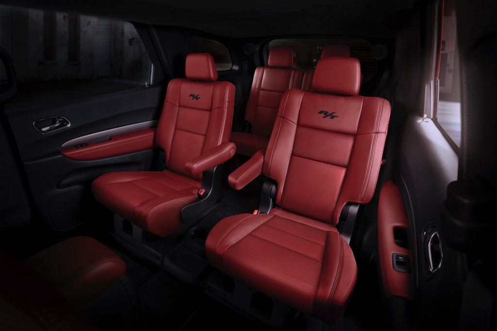 Radar Nappa Red leather interior of the Durango.