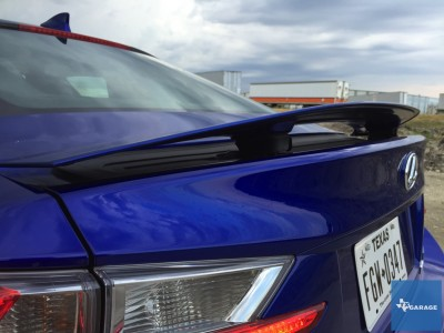 The active spoiler comes on all RC-Fs and activates at 50-mph, presumably giving you more downforce as you race (closed course – professional driver) down the road.