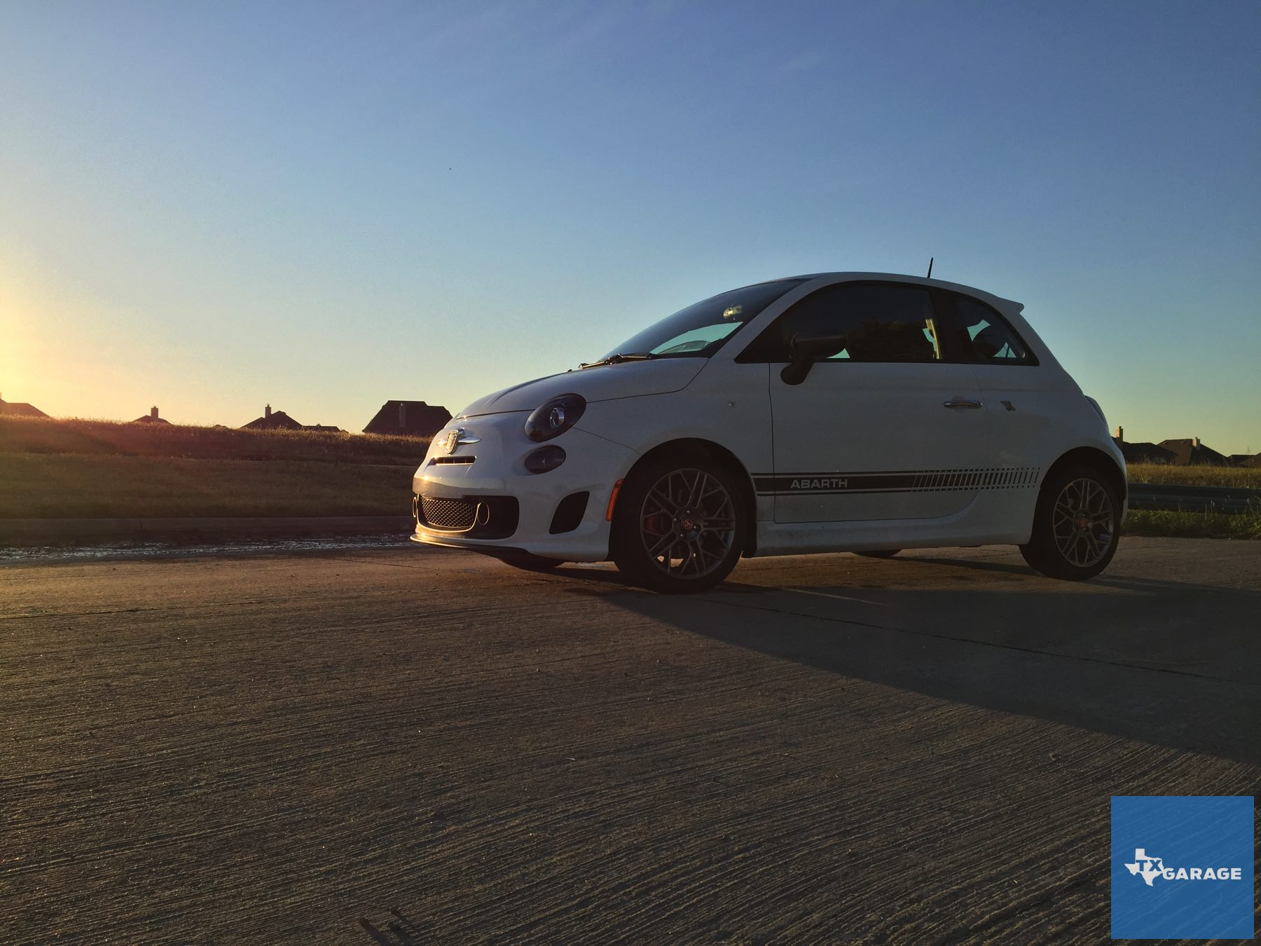 Italy at home in Texas. The Fiat 500 Abarth.