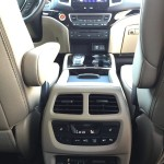 A view from the rear seat in the 2016 Honda Pilot