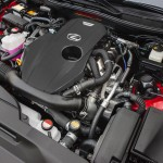 2.0 liter DOHC four augmented by its twin-scroll turbo, the IS 200t delivers 241 horsepower @ 5800 rpm, along with 258 lb-ft of torque @ between 1650 and 4400 rpm