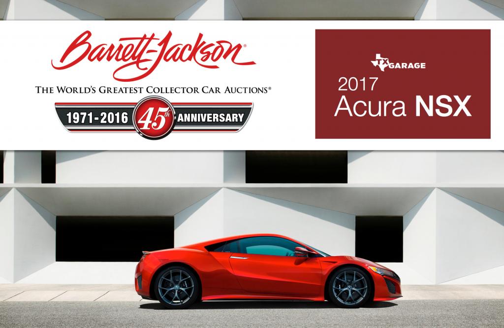 Barrett Jackson - 2017 Acura NSX