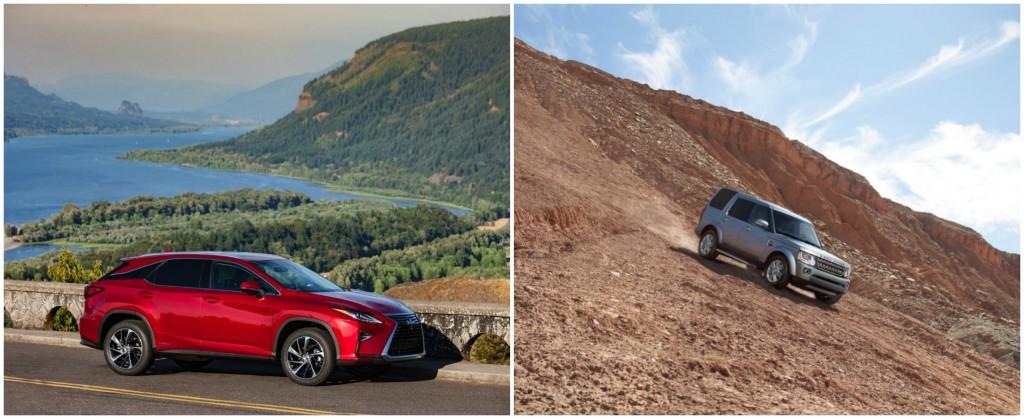 Lexus RX 450h vs Land Rover LR4