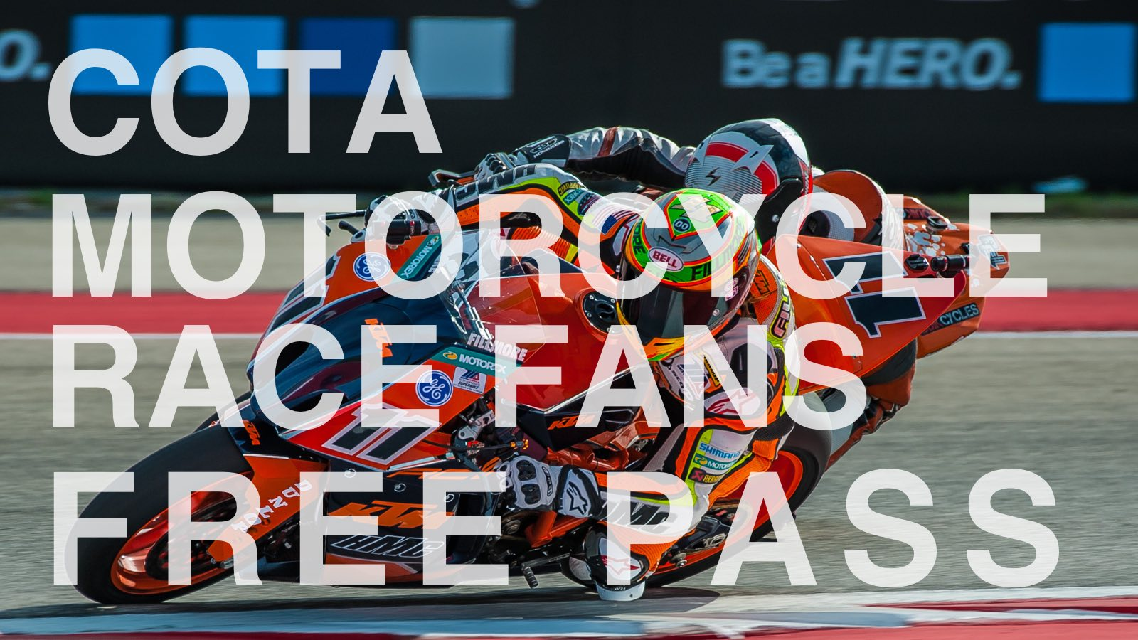 Free Pass for Motorcycle Race Fans at COTA