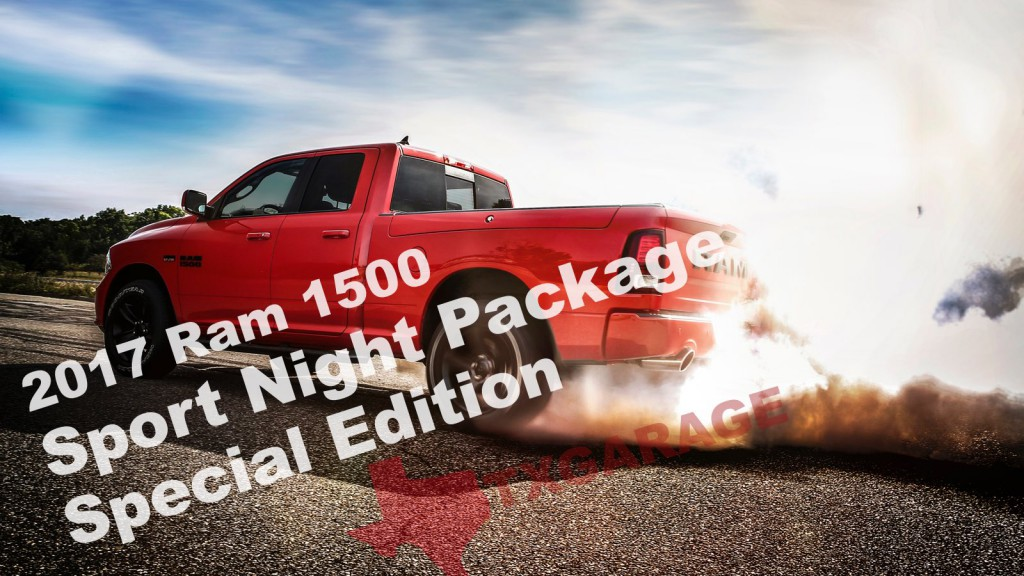 the new 2017 Ram 1500 Sport Night Package Special Edition