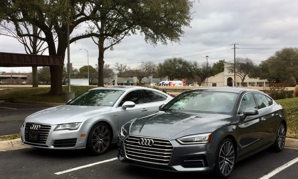 Audi A7 (left) and A5 Sportback