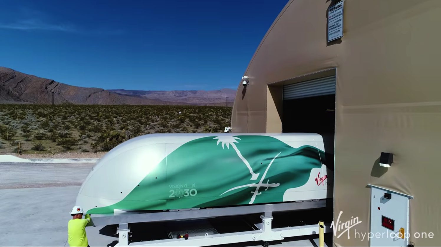 Watch What S The Future Of Transportation Virgin Does A Full Scale Test Of Its Hyperloop One