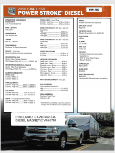 Ford F-150 Diesel Spec Sheet