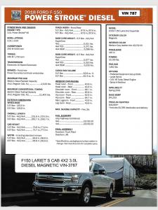 Ford F-150 Diesel Spec Sheet