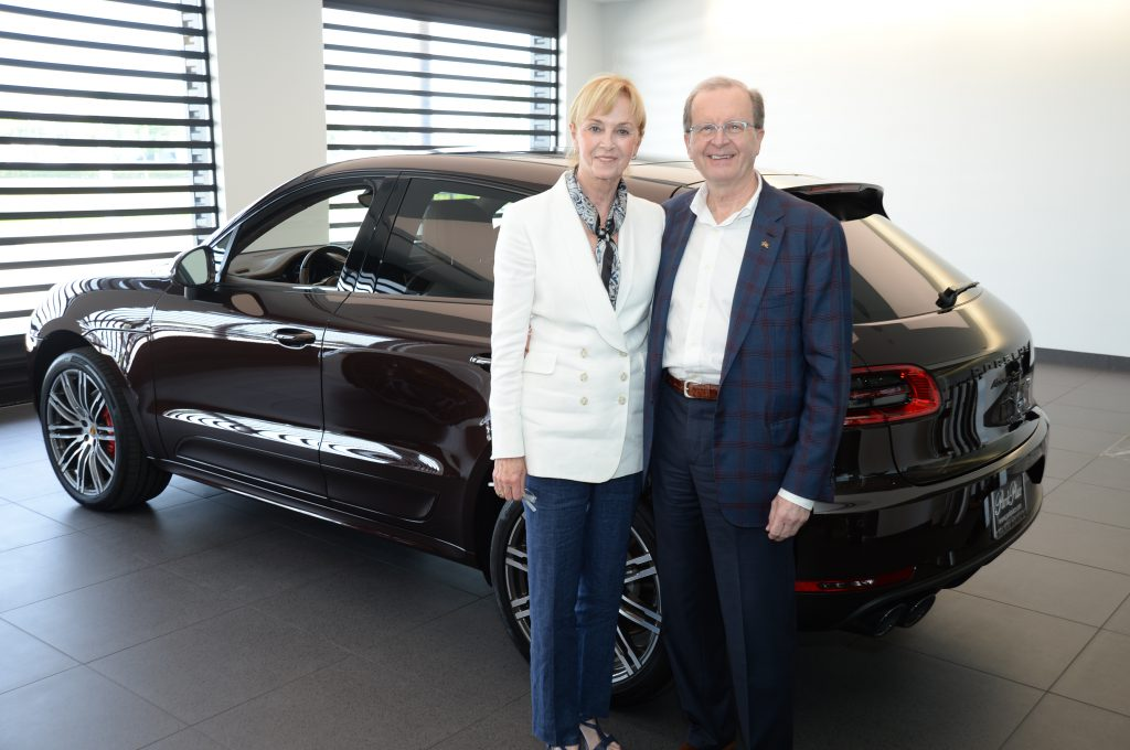 Tina and Dr. Goran Klintmalm purchased the first car from Park Place Porsche Grapevine. Dr. Klintmalm purchased his first Porsche from Park Place 30 years ago and just purchased his 12th car from the company, a 2019 Macan Turbo.