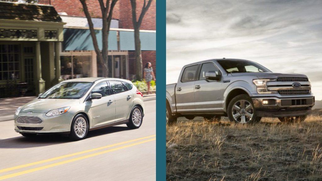 Ford F-150 vs Ford Focus EV