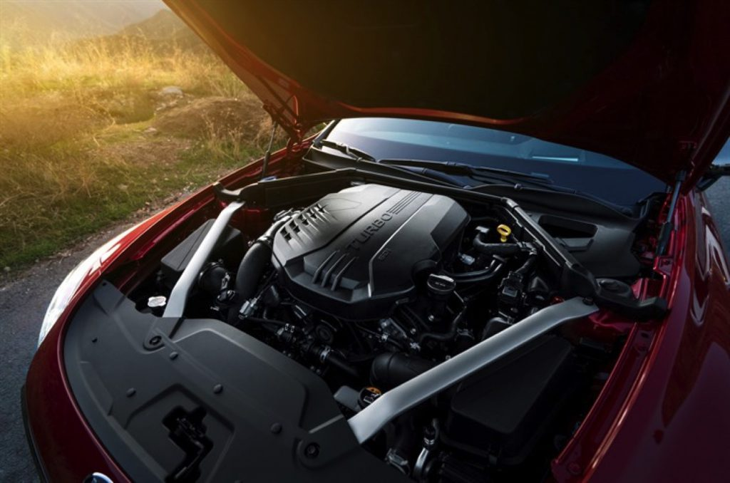 Under the hood of the Kia Stinger