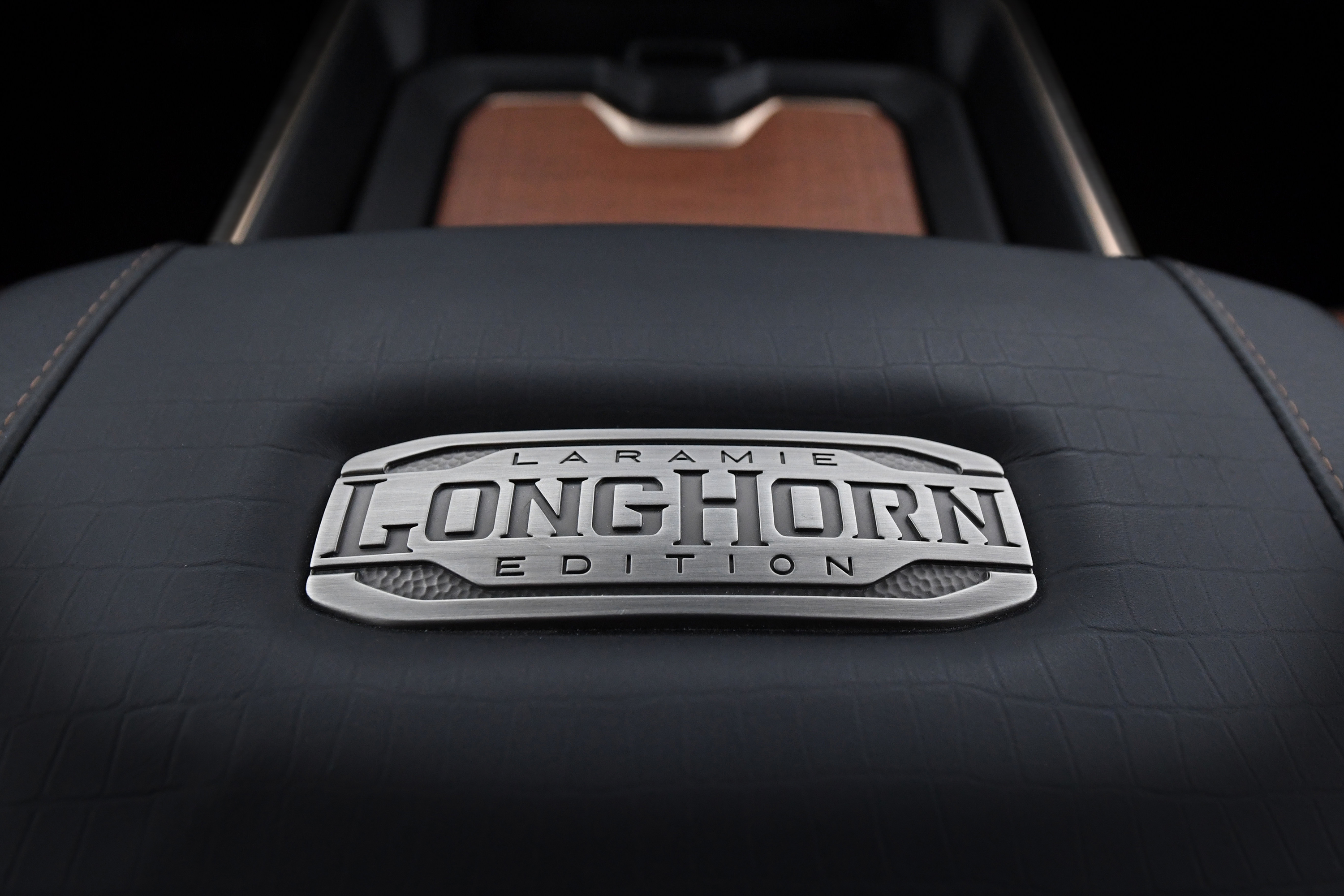 2019 Ram 1500 Laramie Longhorn – Center Console Metal Badge